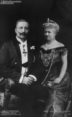 Emperor Wilhelm ii of Germany And consort empress Augusta Victoria Queen Victoria Prince Albert, Victoria And Albert, Princess Victoria, Wilhelm Ii, Kaiser Wilhelm, Von Hohenzollern, Adele, German Royal Family, Germany And Prussia