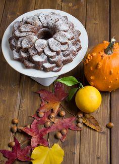 Yerbabuena en la cocina: Bizcocho otoñal de calabaza, avellanas y naranja