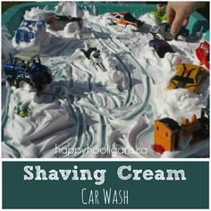 shaving cream car wash