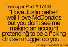 but you don't see me making a fake account pretending to be a chicken nugget.... Please excuse the language
