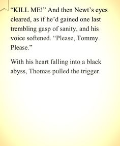 Could barely read this without dropping my book. The Maze Runner. :(