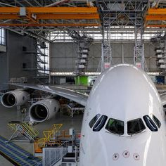 Air France Airbus A380 in the shop for maintenance