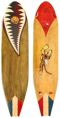 KOTA Longboards, Handley Page, Flying Tigers Edition Longboard. Made in the USA. #KOTAgrip