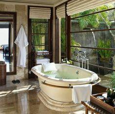 Peaceful  tub view