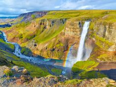 The striking Haifoss Waterfall in Iceland is only accessible to committed hikers and 4x4 vehicles, which keeps the 122-meter-tall cascade under-the-radar.
