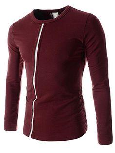 #Fashionmia - #Fashionmia Men Casual Round Neck Patchwork T-Shirt - AdoreWe.com