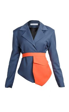 Lama Jouni Fitted Suit Jacket in blue Blazers, Fitted Suit, British Indian, Ethiopia, Uganda, Ukraine, Cool Designs, Suit Jacket, Fashion Outfits