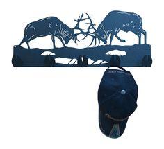 Elk Fighting Metal Coat Rack and Hat Rack by MadMetalWorks on Etsy
