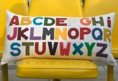 Alphabet pillow by alba