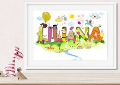 Pictures – Personalised Name Print, Childs Name Print, Baby  – a unique product by NanettoDesign on DaWanda