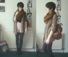 Shorts and scarf.