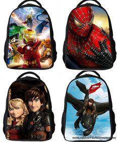 ec4bf7c7a08e Backpacks - KIDS 28 Designs - Captain America   Little Pony  Batman   Mario