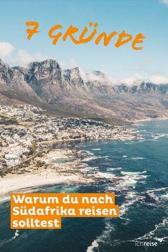 """Hast du Lust auf ein unvergessliches Abenteuer? Dann ist Südafrika das  richtige Reiseziel für dich. Es ist das fortschrittlichste der afrikanischen Länder und wird aufgrund der vielen Ethnien, die hier zusammentreffen, auch """"Regenbogennation"""" genannt. An der mehr als 2.000 Kilometer langen Küste gibt es zahlreiche Traumstrände und Lagunen, aber auch Wüsten, Savannen, Buschland und Regenwälder prägen Teile des Landes. Safari, Wanderlust, Mount Everest, Mountains, Nature, Travel, Kenya, Tanzania, Holiday Photos"""