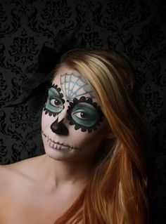 Simple Day of the Dead Face Paint