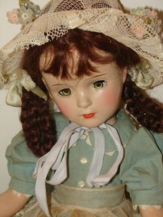 "Vintage Rare 19"" Madame Alexander Margaret O'Brien Composition Doll"