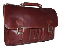 This I Medici of Florence Double Buckle Front Flap Triple Gusset Briefcase is constructed from a rich, hand-stained Tuscan leather. Briefcase, Italian Leather, Antique Brass, Florence, Messenger Bag, Shoulder Strap, Satchel, Leather Products, Luxury