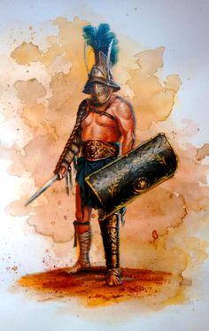 Breogán Álvarez. Murmillon Ancient Rome, Ancient Greece, Ancient History, Gott Tattoos, Gladiator Games, Roman Gladiators, Marshal Arts, Roman Warriors, Epic Movie