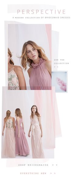 BHLDN | Anthropologie Weddings | Email Design | Layering | Bridesmaids Mix and Match