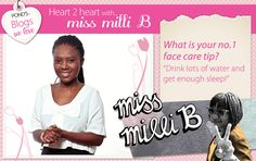 We asked @Milisuthando Bongela -  www.missmillib.blogspot.com - what her no.1 face care tip is ... #Beauty Face Care Tips, My Journal, Our Love, Relax, Skin Care, App, Website, Blog, Beauty