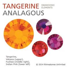 Swarovski Tangerine analagous color theme from Rhinestones Unlimited