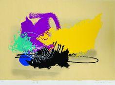 Manabu Mabe Abstração – 70 x 95 cm – Gravura Ass. CID e Dat. 1995