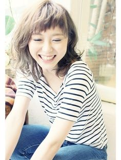 ヘア アンド メイク ブリランテ Hair&make brillante☆カジュアルミディ☆ふわくしゅパーマ