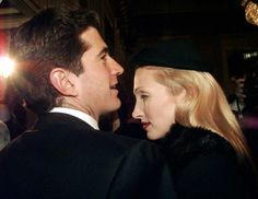 John F. Kennedy Jr., son of late U.S. President, with his wife Carolyn Bessette Kennedy, arrive at La Scala theatre in Milan Sunday, December 7, 1997.