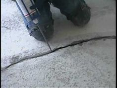 D-I-Y Concrete Floor Crack Repair