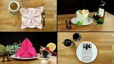 Table decoration: 6 simple tricks for folding napkins - YouTube