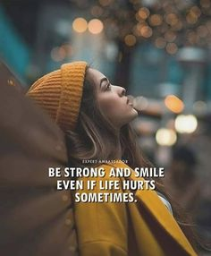 Inspirational Positive Quotes :Be strong and smile even if life hurts sometimes. Inspirational Positive Quotes :Be strong and smile even if life hurts sometimes. Hurt Quotes, Smile Quotes, Mood Quotes, Qoutes, Pointless Quotes, Alone Girl Quotes, Girly Attitude Quotes, Girly Quotes, Anniversary Quotes