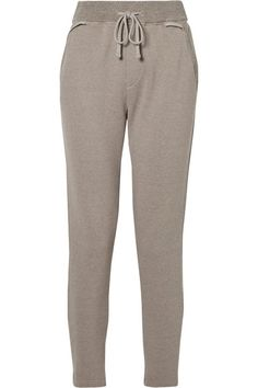 JAMES PERSE COTTON-BLEND TERRY TRACK PANTS. #jamesperse #cloth #