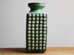 Funky green vase by VEB Haldensleben East Germany by Eclectivist