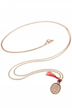 rose gold plated #lucky #charm necklace with hamsa pendant I designed by delphes paris I NEWONE-SHOP.COM