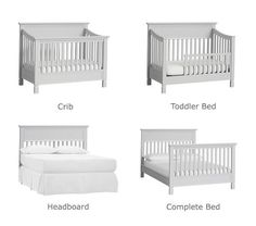 Larkin 4-in-1 Convertible Crib | Pottery Barn Kids