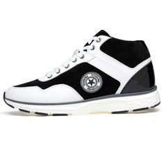 White Lace-ups Trendy Sneakers for Men to be tall 8cm / 3.15inch