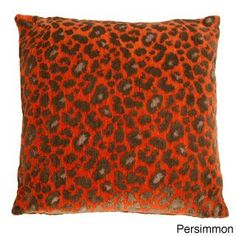 Protocal Decorative Accent Pillow by Michael Amini. A 22 x 22-inch knife-edge feather filled accent pillow in a chenille geometric design with a concealed zipper.