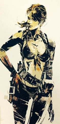 "Quiet, from ""The Art of Metal Gear Solid V"" featuring the amazing artwork of Yoji Shinkawa. {http://artgallery.network