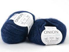 Silk + Kid Mohair Mörkblå 3011 | Onion Silk + Kid Mohair - GARN