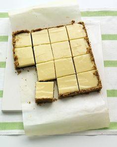 Lime Squares with Pistachio-Graham Cracker Crust.