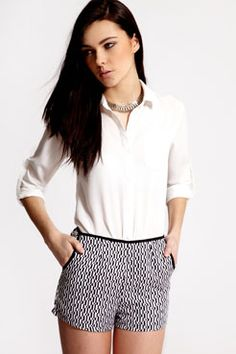 Boutique Alex Diamond Monochrome Shorts