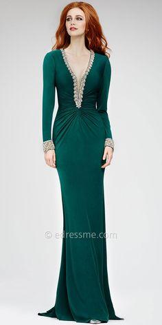 58ea2f7ee9b7 8 fantastiche immagini su Vestito lungo elegante con maniche ...