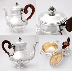 French Sterling Silver 4pc Coffee & Tea Service