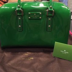 """Kate Spade Brand New This Kate Spade is authentic and has never been used. Not a mark on it. Comes with dust bag. No low ball offers I won't answer back. 12""""across  9"""" down  handles are 5"""" inside one zip pockets and two non zip ones. kate spade Bags Satchels"""