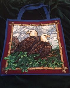 Items similar to Eagles, totes with hand painted details on Etsy Eagles, Totes, My Etsy Shop, Hand Painted, Detail, Check, Painting, Eagle, Dime Bags