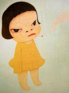 Yoshitomo Nara, I have this as an ashtray:) too bad I don't smoke anymore