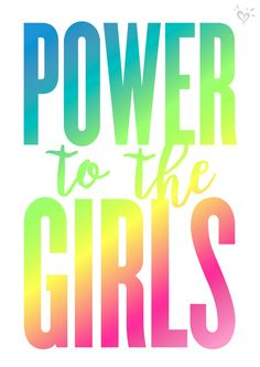 Strong girls, unite! You got this!