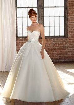 cute sweetheart ball gown style wedding dress, look up and click the picture to purchase.