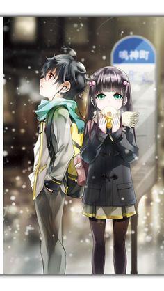 Sousei no onmyouji / Rokuro and Benio Couple Manga, Anime Love Couple, Cute Anime Couples, I Love Anime, Anime Guys, Manga Anime, Fanart Manga, Sousei No Onmyouji Benio, Adashino Benio