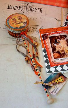 from Blissful Elements Vintage Halloween Images, Vintage Halloween Decorations, Retro Halloween, Happy Halloween, Halloween Stuff, Victorian Halloween, Halloween Queen, Halloween House, Spooky Halloween