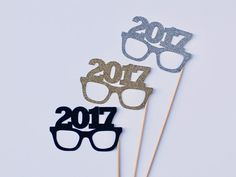 2017 New Years Eve Photobooth Props by PAPERandPANCAKES on Etsy